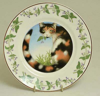 Nicola Bayley Ceramic 'cat Mint' Plate From The Book 'the Necessary Cat'