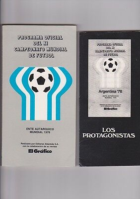 1978 official Argentina Brochure 322 pages plus Los Protagonistas 32 page issue