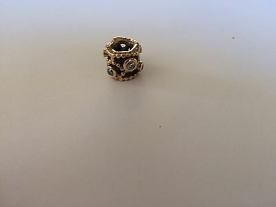 14 Karat Gold Pandora Beads With Diamonds