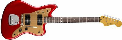 Squier Deluxe Jazzmaster with Tremolo Candy Apple Red Electric Guitar