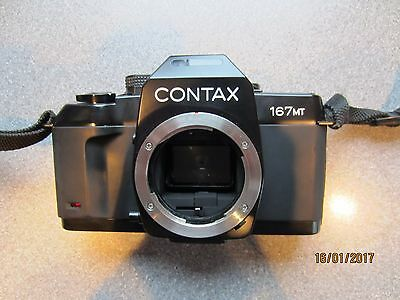 CONTAX 167MT 35mm SLR Camera Body  with case and instructions