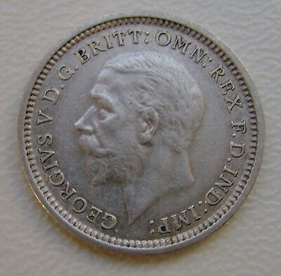 1936 George V Silver Threepence Coin In Very Good Grade (372)
