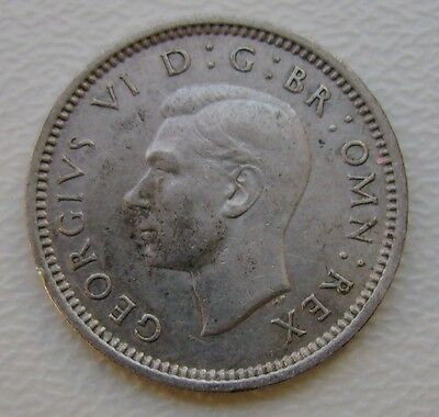 1938 George Vi Silver Threepence Coin In Very Good Grade (373)