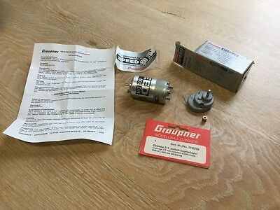 Graupner 7.2 volts Speed 600 Electric Motor 1795/30 And Gear Box