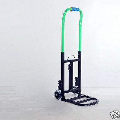* New Convenient Simple Green Two Wheels Collapsible Shopping Luggage Trolleys