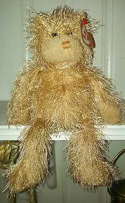 TY Punkies Retired 2004 FRIZZY Bear and Introduced 2002 NEW ~ Very Soft