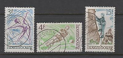 Luxembourg  1975  Sports  SG954/6  -  used set of 3