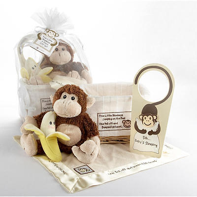 Baby Aspen Five Little Monkeys 5-Piece Gift Set
