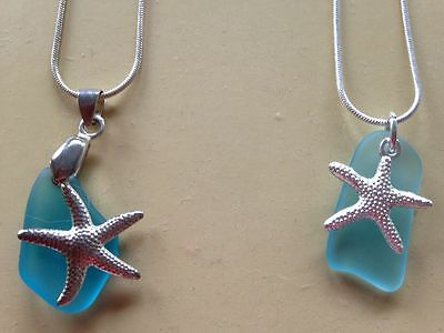 Starfish seaglass Necklaces