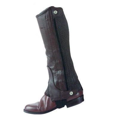 Shires Adults Leather Half Chaps – 9629