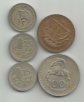 5 Old Coins from Cyprus