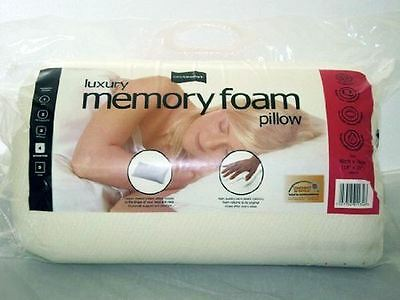 Easycomfort Luxury Memory Foam Pillow Non Allergenic 46cm x 74cm