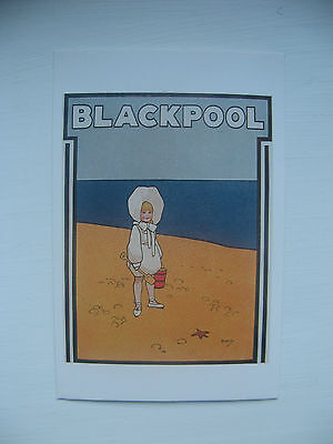 BLACKPOOL, c. 1924. PROMOTIONAL POSTER - REPRODUCTION POSTCARD