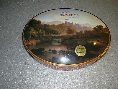 M&S Shortbread tin Collectable Highland scene EMPTY