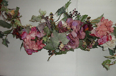 4 Your Home Interiors  32'' Pink & Purple Flowers ''Swag/ Accents
