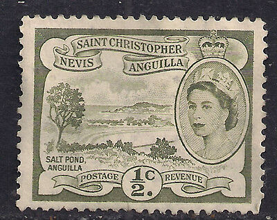 ST Christopher Nevis Anguilla 1956 1/2ct Olive MM SG 106a.(L653 )