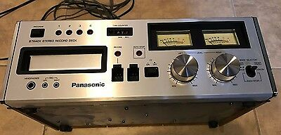 Panasonic RS-808 8 Track Player Recorder w/ original cables Untested