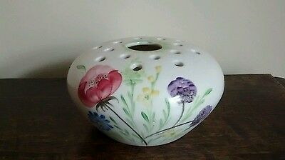 vintage hand painted rose bowl by E. Radford