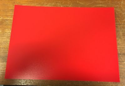 2 x A4 RED Polypropylene Plastic Sheets 0.5mm Model Making, Art, Craft