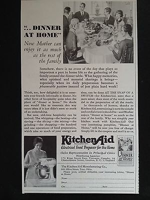 Vintage Print Ad 1931 (X2)~Kitchen Aid Electric Food Preparer