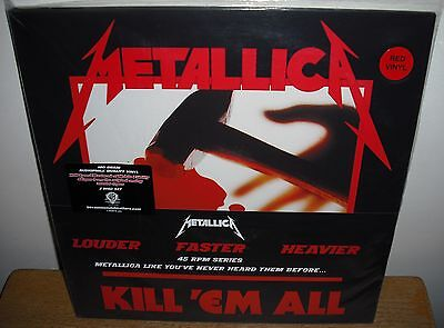 METALLICA KILL `EM ALL AUDIOPHILE 2LP NEW RED 45 rpm mobile fidelity mfsl ac dc