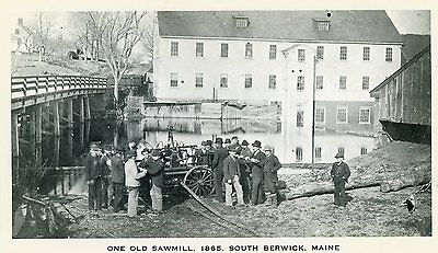 "South Berwick Maine ""one Old Sawmill 1865"" Unused Postcard"