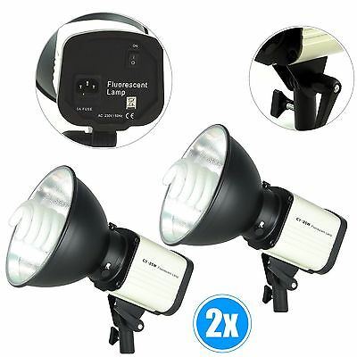 2x Kit d'éclairage Studio Photo DynaSun CY25W Illuminateur Lumiere du Jour 150W