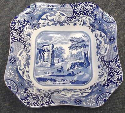 Spode Blue Italian Large Open Squere Serving/Salad Bowl     To