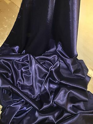 """NEW IN STOCK 5 MTR ROYAL BLUE CREPE BACK LINING SATIN FABRIC...58/"""" WIDE"""