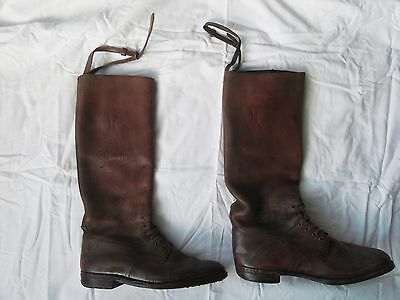 WW1 era British officers brown leather field or riding boots