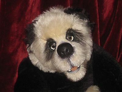 Ours Teddy Bear Panda  d'artiste Christine PIKE made in England