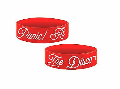 Panic at the Disco Wristband band Logo brendan urie new Official Red rubber