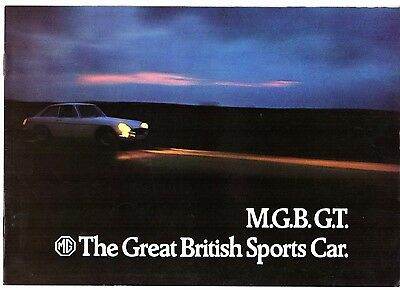 MG MGB GT 1971-72 UK Market Sales Brochure