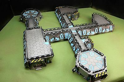 Spartan Games nicely painted sci fi base starter set terrain for war games