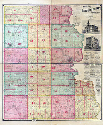 1893 Map of Lincoln County South Dakota