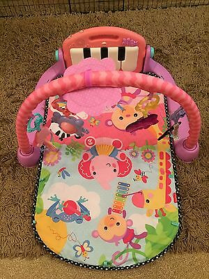 Fisher Price Kick And Play Piano Gym Pink ****hardly Used!!!****
