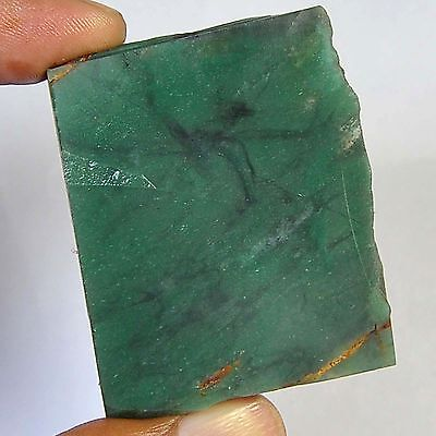 215.20 Cts 100%natural colombian green Nephrite Jede slice rough for gemstone