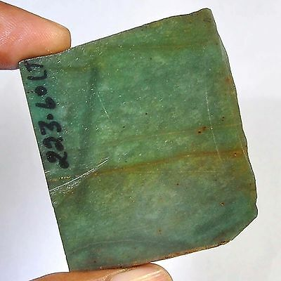 223.60 Cts 100%natural colombian green Nephrite Jede slice rough for gemstone