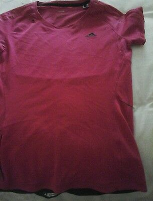 ladies running top size 12 clima control adidas