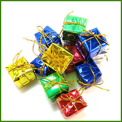 12Pcs New Christmas Tree Ornaments Small Hanging Box Party Home Decoration