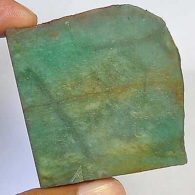 270.70 Cts 100%natural colombian green Nephrite Jede slice rough for gemstone