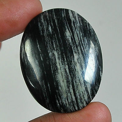 58.85 Cts Natural African Silver Leaf Agate Oval Cabochon Untreated Smooth Polis