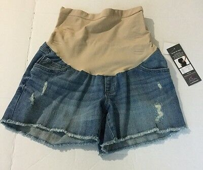 Women's Oh Baby By Motherhood Secret Fit Belly Shorts Large New