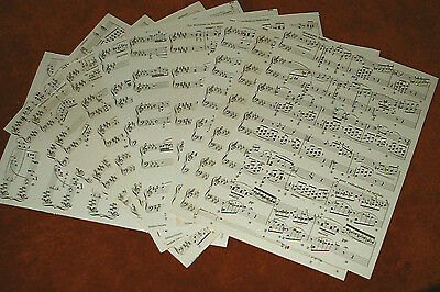 10 VINTAGE music sheets,. scrapbooking, collage, wrap, lining, confetti wedding