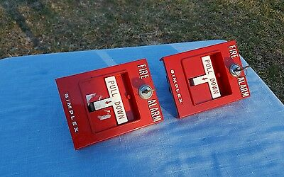 Set of two Simplex Fire Alarm Pull Down switches