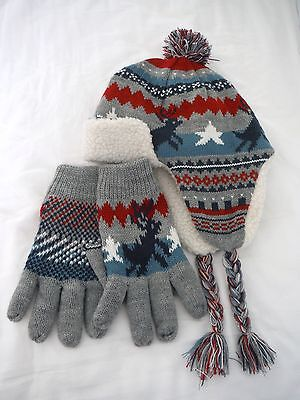 Hat and Gloves - Boys - Large