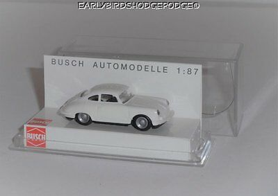 Busch Germany Ho Scale 1/87 White Porsche 356 Car Plastic Case #41600