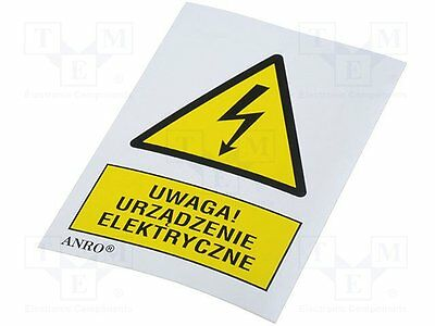 3 pcs Safety sign; warning; W:74mm; H:52mm; FS