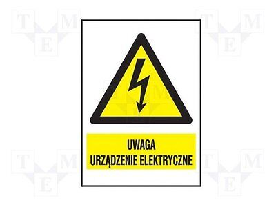 3 pcs Safety sign; warning; W:74mm; H:105mm; FS