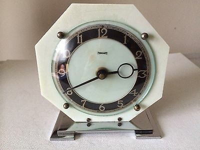 Vintage French Art Deco Clock Ferranti On Dial Bayard Movement Working